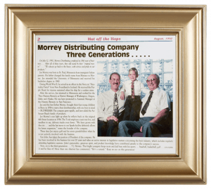 Newspaper picture of Morrey